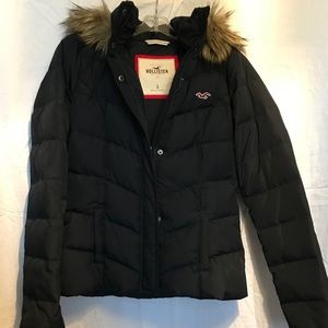Hollister Down Hooded puffy parka coat jacket